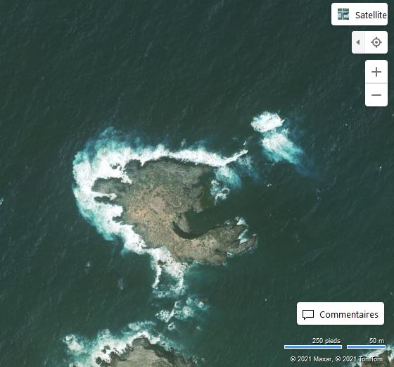 Ile aux rats - Algérie (Bing Maps)